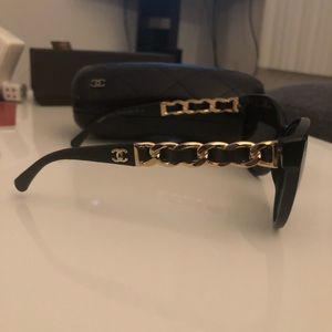d82241a403878 CHANEL Accessories - Chanel chain linked lamb skin sunglasses